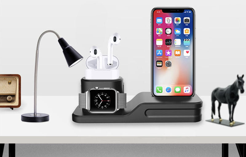timeless design df411 d67b5 3-In-1 iPhone + AirPods + Apple Watch Charging Dock Station