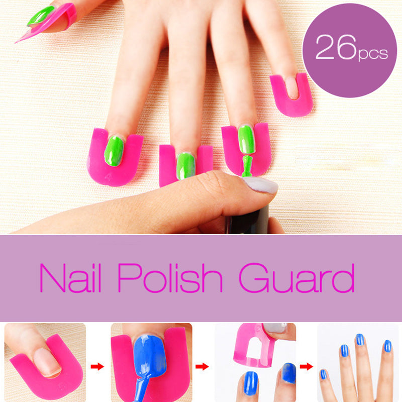 Nail Polish Guard For Manicure (26 PC Set)