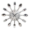 Kitchen Wall Clock With Cutlery, Spoon, Fork Design