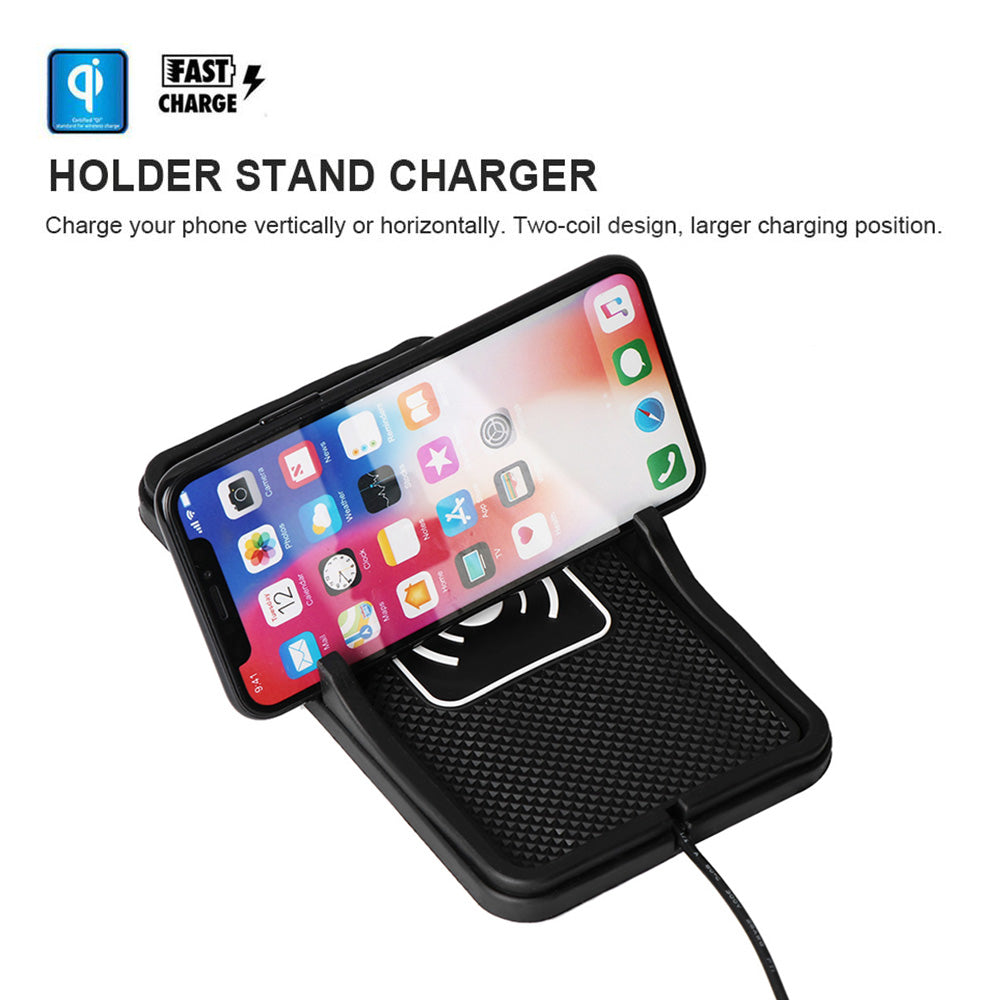 Qi Wireless Charger For Car Non Slip Dashboard Mat Chytah
