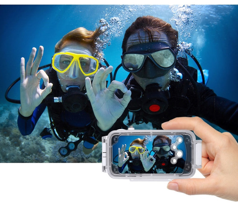 iPhone X Waterproof Diving Case For 40m/130ft Underwater Photography