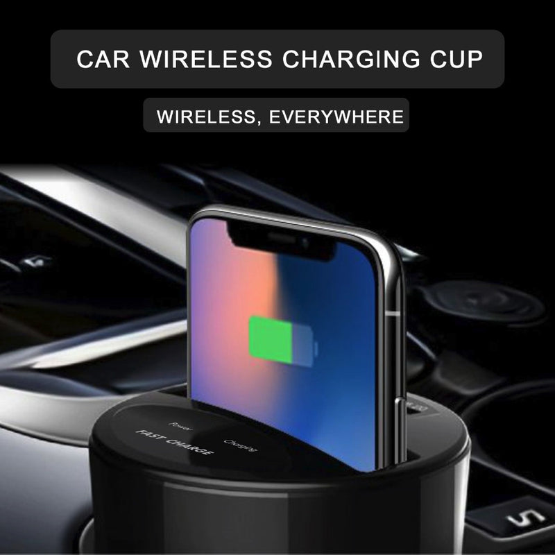 Qi Wireless Charger For Car Cup Holder - Universal