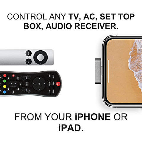 IR Blaster For iPhone, iPad To Remote Control TV, AC, Set Top Box