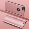S9+ Like Mirror Clear View Standing Case For iPhone