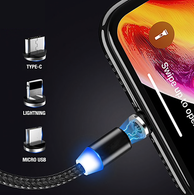MagSafe-Style Magnetic Charge Cable For iPhone, iPad, MacBook, Android