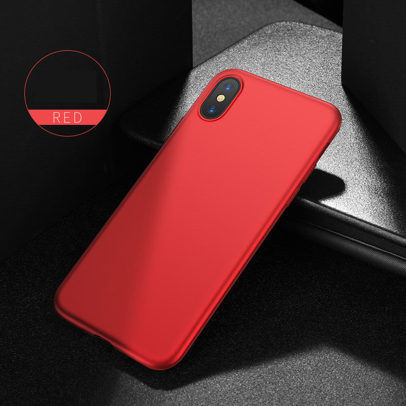 Ultra-Slim Soft iPhone X, 8, 7, Plus Case In Red & Other Colors