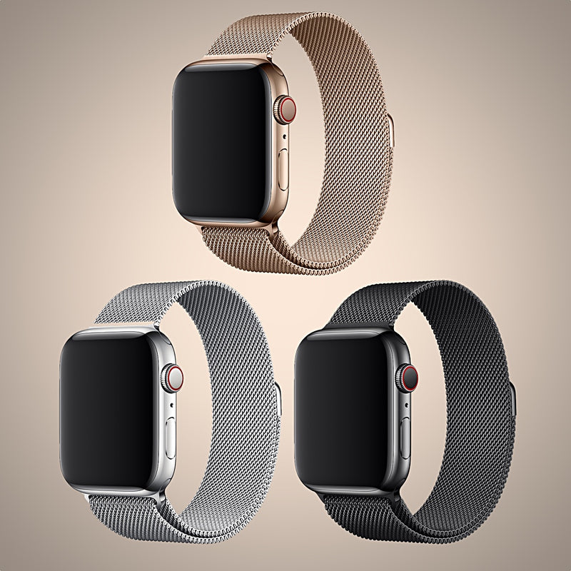 Apple Watch Milanese Loop Style Band For 38mm, 40mm, 42mm, 44mm Models