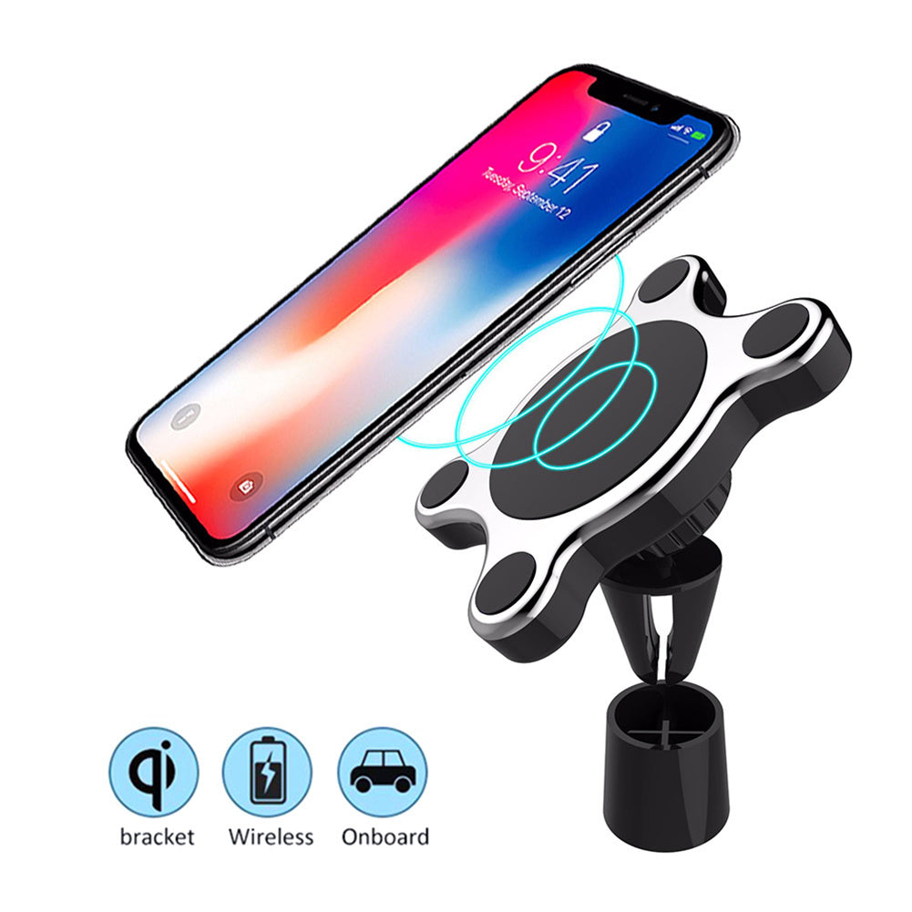 Magnetic Qi Wireless Fast Car Charger Mount For IPhone And