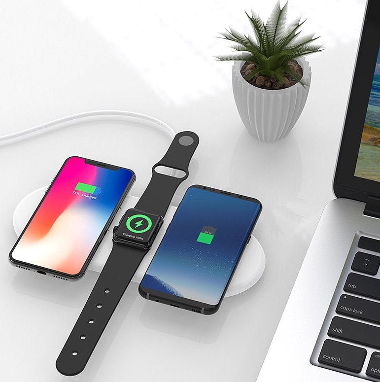 new style 714b6 86676 3-In-1 AirPower-Like Wireless Charger For iPhone, Apple Watch, AirPods,  Android