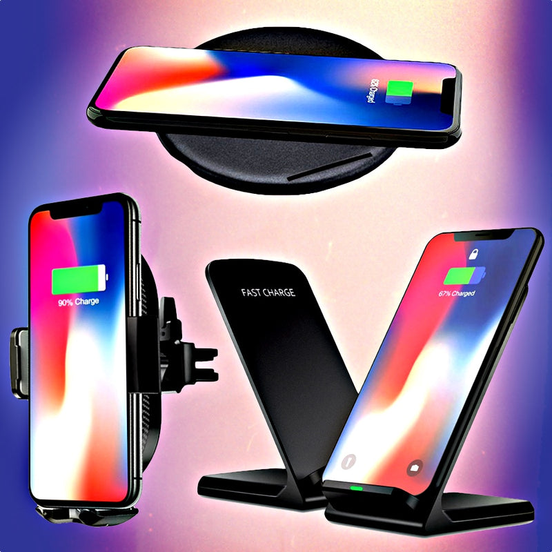 3-In-1 iPhone XS & XS Max Qi Wireless Charging Bundle For Home, Office, Car