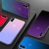 iPhone Case With Huawei P20 Pro Like Color-Shifting, Gradient Effect + Tempered Glass Back