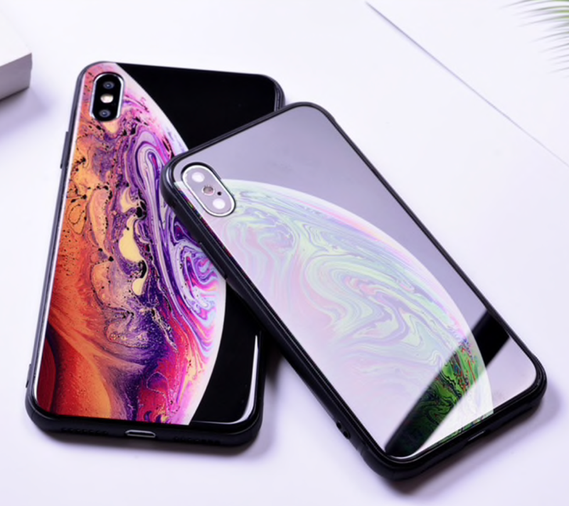 iOS Wallpaper-Matching Tempered Glass Case For All iPhones