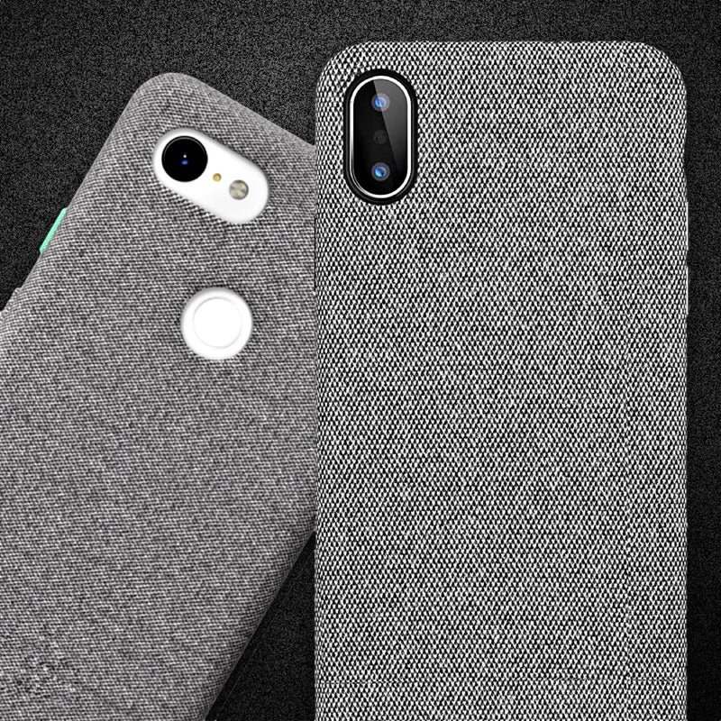 Google Pixel-Like Fabric Case For iPhone