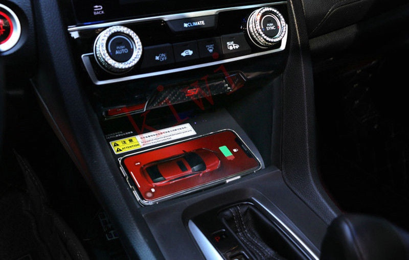 Rectangular Flat Qi Wireless Charger For Car Console Chytah