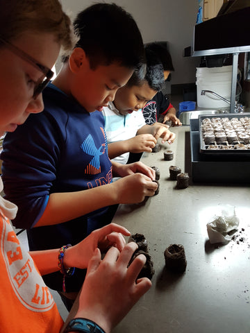 Kids Learning to Start Seeds - Food First Foundation