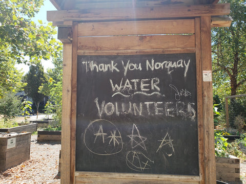 Thank you to Volunteers sign at KidSafe Norquay