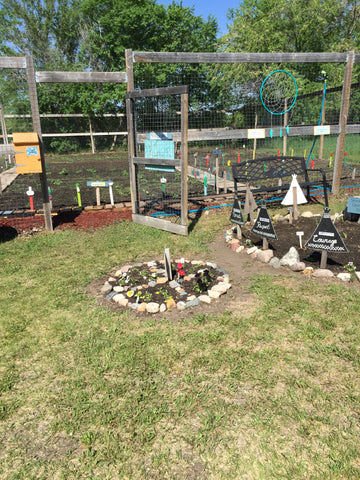 Garden Plots at the Healthy Living Land Based Learning Community Garden Project