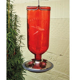 Glass Hummingbird Feeder (Red)