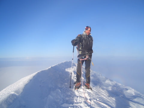 Tim on the summit of Mont Blanc