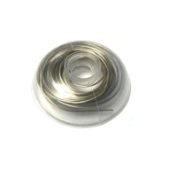 .025 Orthodontic Silver Solder, 5 DWT (1/4 troy ounce) can be used to braze gold, silver or stainless steel.