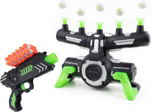 Pidoko Kids Targets Shooting Game Compatible with Nerf - Floating Darts for Target Practice, with Blaster - Toy Guns for Boys or Girls and Foam Darts - Glow in The Dark with Music New Edition