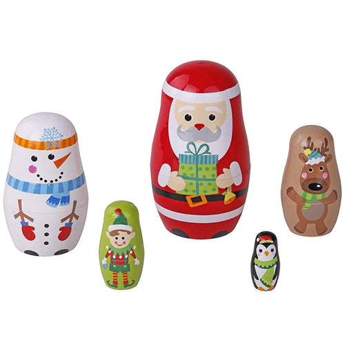 Nesting Dolls - Santa and Friends Christmas Edition