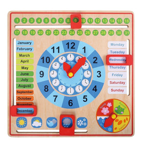 My First Calendar - All About Today Wooden Board Toy, Kids Calendar