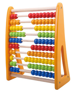 Classic Rainbow Wooden Number Abacus For Math - 123 Leaning Skills Educational Beads Toy - For Ages 2 and Up