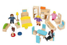 Skylar Dollhouse with 20 Pcs Furniture, 5 Dolls and a Pet dog