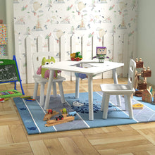 Pidoko Kids Table and Chairs Set with Storage, White