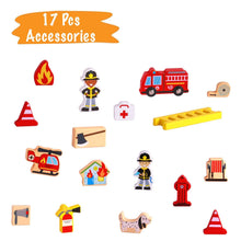 Fire Station Toy - 19 Pcs Play Set - Magnetic Portable Box