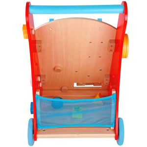 Baby Walker Cart, Red - Toddler Push Toys for Boys and Girls 18 Months and up - My First Learning Walker