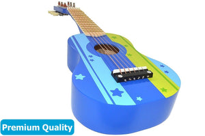 Wooden Ukulele Toy Guitar Instrument, Blue