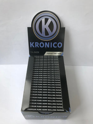 'Kronico' Premium Pure Hemp 1 1/4 Kingsize Rolling Papers - Kronico Limited