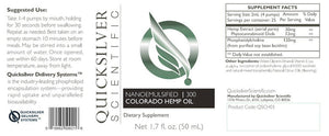 QUICKSILVER CBD HEMP OIL