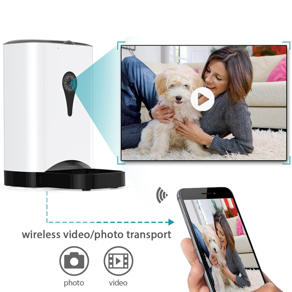 Automatic Pet Feeder Pet Food Dispenser Machine with Audio and Video Recording