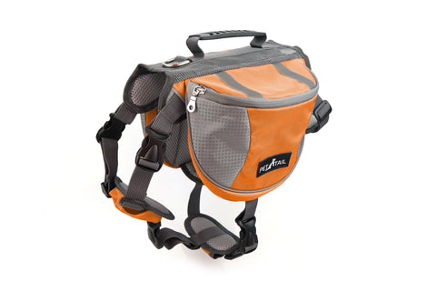 PETTAIL Outward Hound Dog Saddlebags Hiking Gear Equipment Backpack Travel