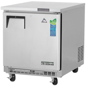 Everest Stainless Steel Swing Solid One Door Undercounter Freezer Condensing Unit
