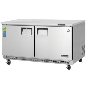 Everest Stainless Steel Swing Solid Two Doors Undercounter Freezer Condensing Unit