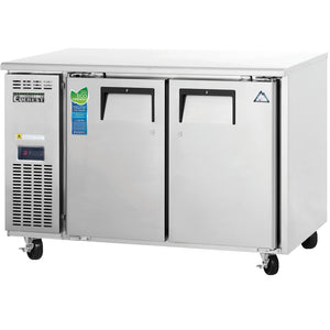 Everest Stainless Steel Solid Two Doors Deep Side Mounted Undercounter Freezer Condensing Unit