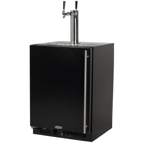 Image of Marvel 24 Inch Built-in Indoor Black Door Finish, Beer Dispenser, 5.7 Cu. Ft. Capacity