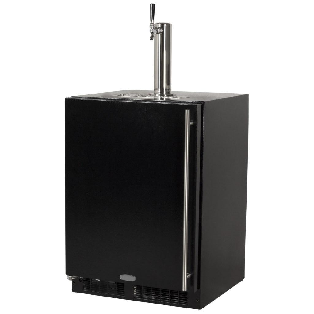 Marvel 24 Inch Built-in Indoor Black Door Finish, Beer Dispenser, 5.7 Cu. Ft. Capacity