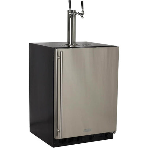 Image of Marvel 24 Inch Built-in Outdoor Stainless Steel Beer Dispenser, 5.7 Cu. Ft. Capacity