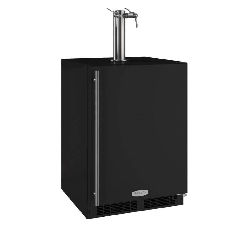 Marvel 24 Inch Built-in Indoor Black Wine Dispenser, 5.7 Cu. Ft. Capacity