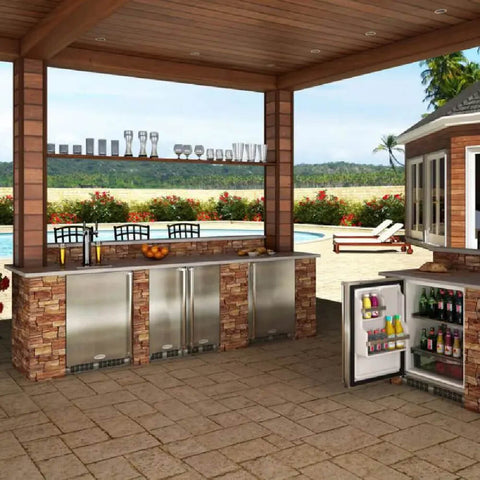 Marvel 24 Inch Built-in Outdoor Stainless Steel Wine Dispenser, 5.7 Cu. Ft. Capacity