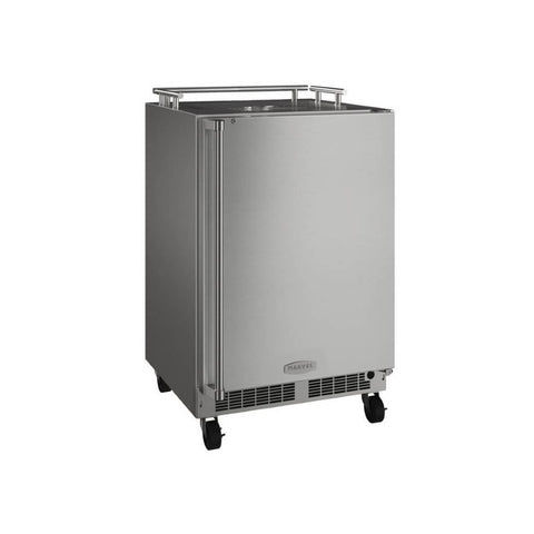 Image of Marvel 24 Inch Built-in Outdoor Mobile Stainless Steel Beer Dispenser, 5.7 Cu. Ft. Capacity