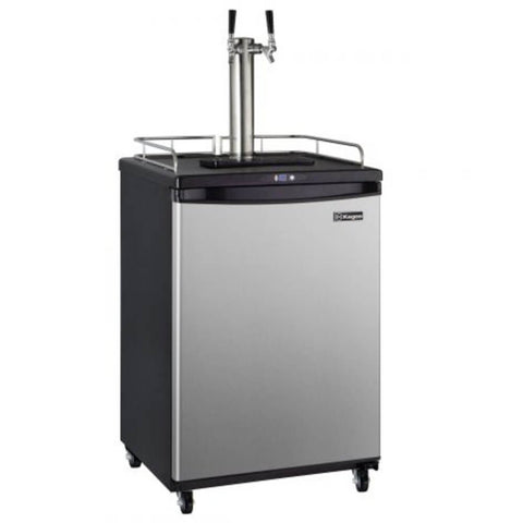 Kegco Dual Tap Stainless Steel Commercial Kegerator Z163S-2NK