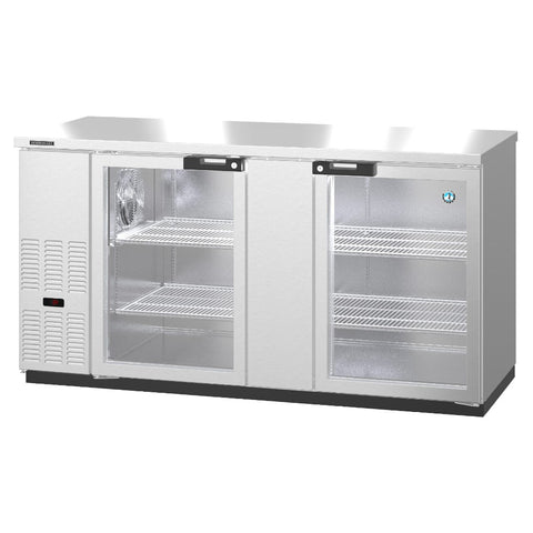 Hoshizaki BB69-G-S Two Section Glass Doors Stainless Steel Back Bar (Model: BB69-G-S)