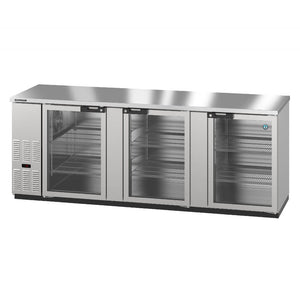 Hoshizaki BB95-G-S Three Section Glass Doors Stainless Steel Back Bar (Model: BB95-G-S)