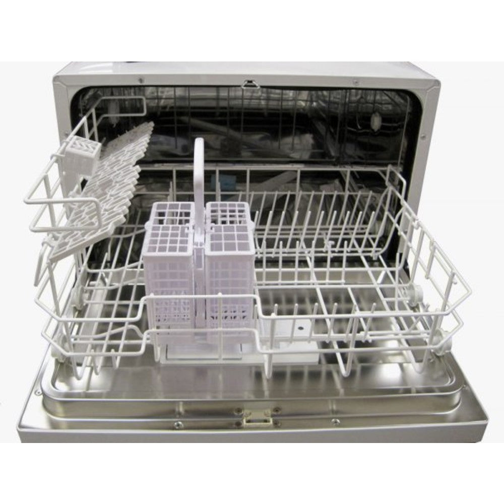 Sunpentown 120V White Stainless Steel Countertop Dishwasher with Delay Start (SD-2202W)